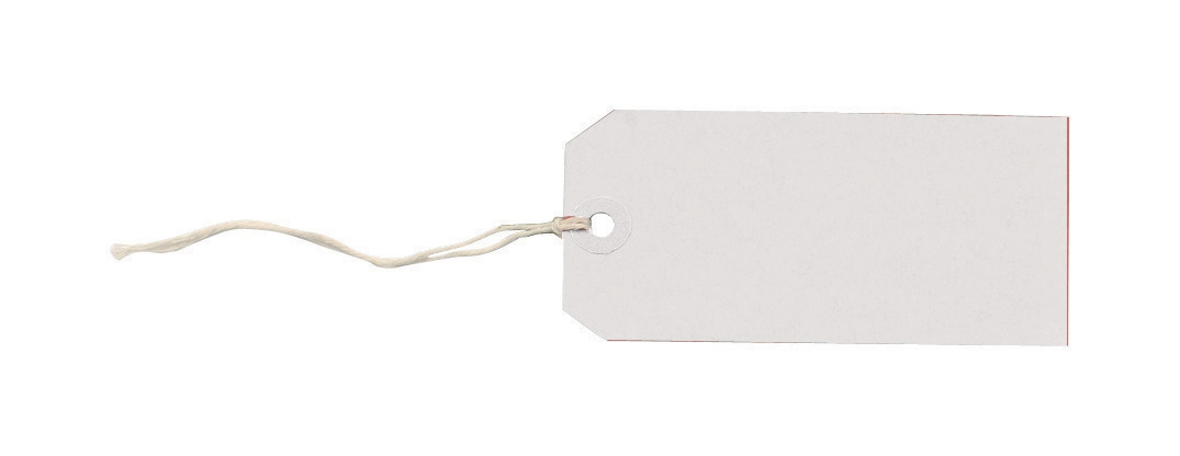 Tag Labels Strung Bulk Boxes White [Pack 1000]