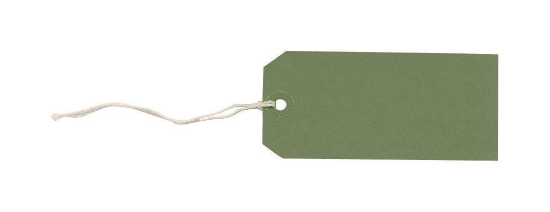 Tag Labels Strung Bulk Boxes Dark Green [Pack 1000]