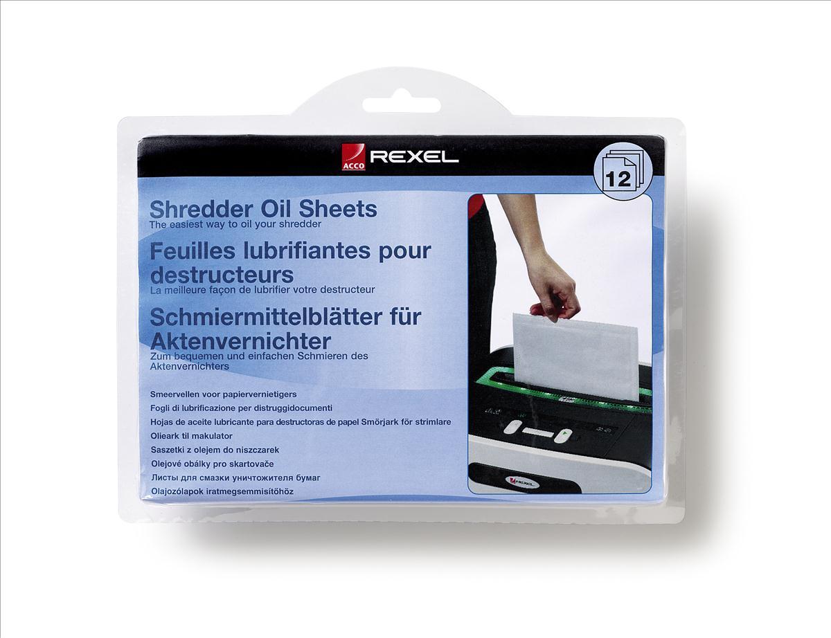 Rexel Shredder Oil Sheets in Envelope Design Ref 2101948 [Pack 12]
