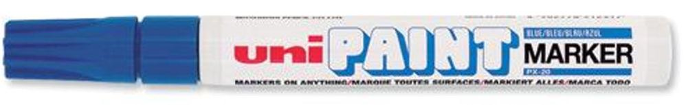 uni Paint Marker Bullet Tip Medium Point Px20 Line Width 2.2-2.8mm Blue Ref 124412000 [Pack 12]