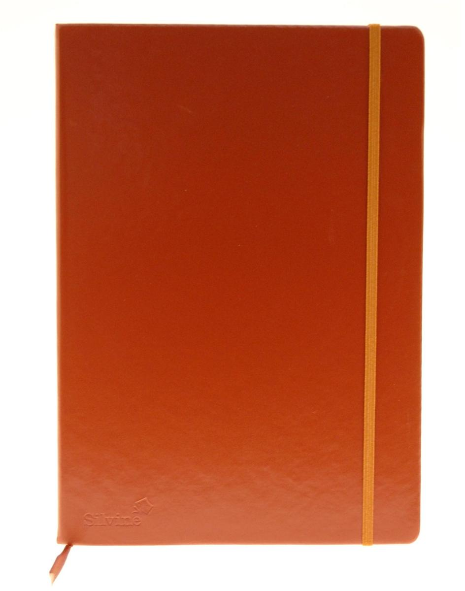 Silvine Executive Soft Feel Notebook Ruled with Marker Ribbon 160pp 90gsm A4 Tan Ref 198TN