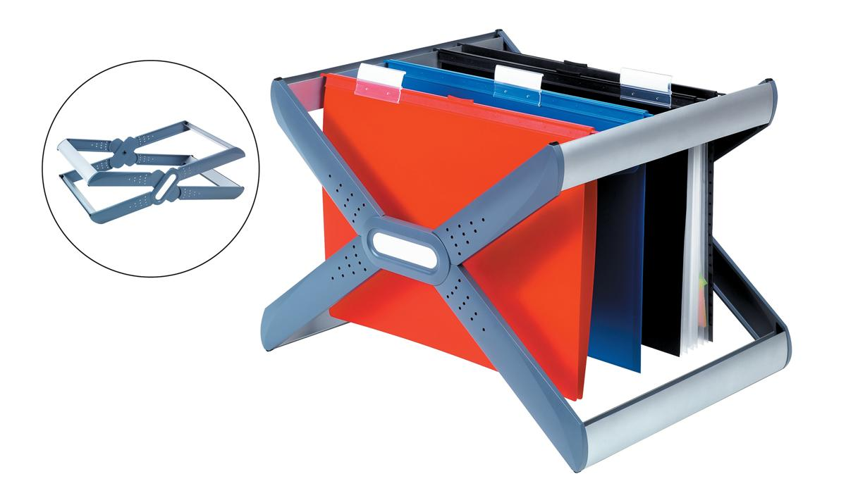 Rexel Crystalfile Extra Desk Organiser Frame for 30 Suspension Files A4 or Foolscap Ref 3000103