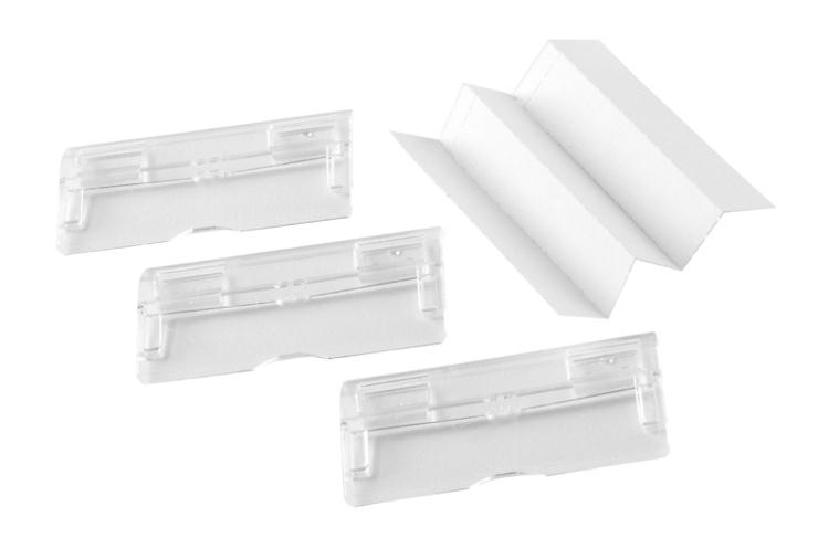 Rexel Multifile Suspension File Replacement Tabs Clear Ref 78400 [Pack 50]