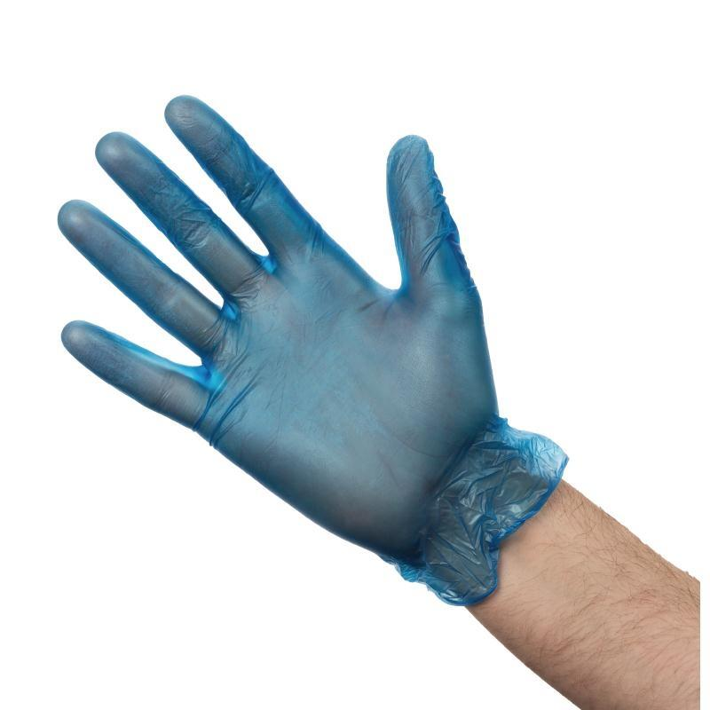 Vinyl Gloves Powdered Medium Blue [50 Pairs]