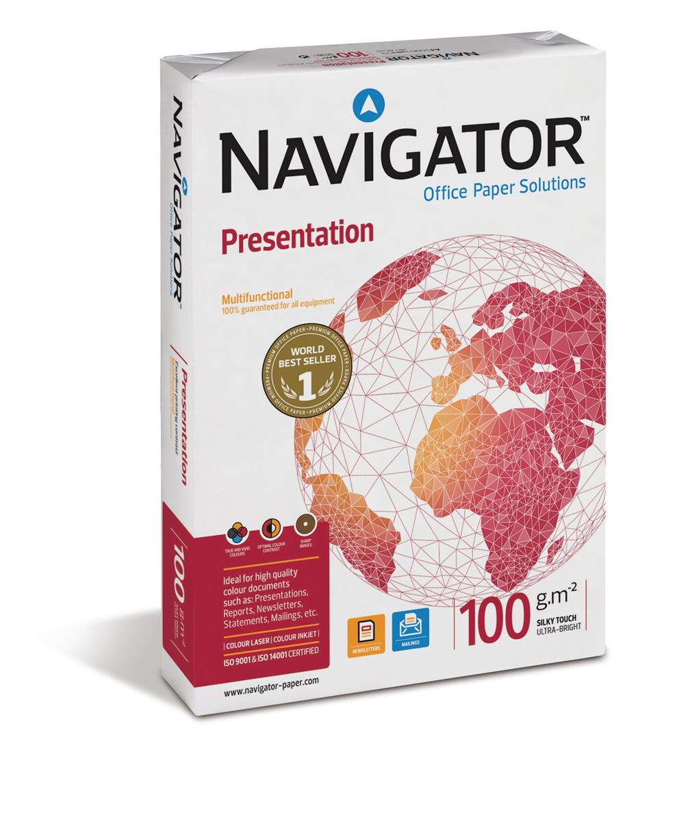 Navigator Presentation Paper High Quality Ream-Wrapped 100gsm A3 White Ref NPR1000018 [500 Sheets]