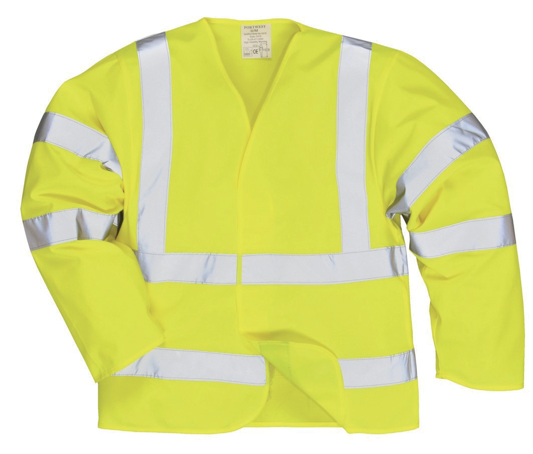 Portwest High Visibility Jerkin Jacket Polyester Medium Yellow Ref C473MED