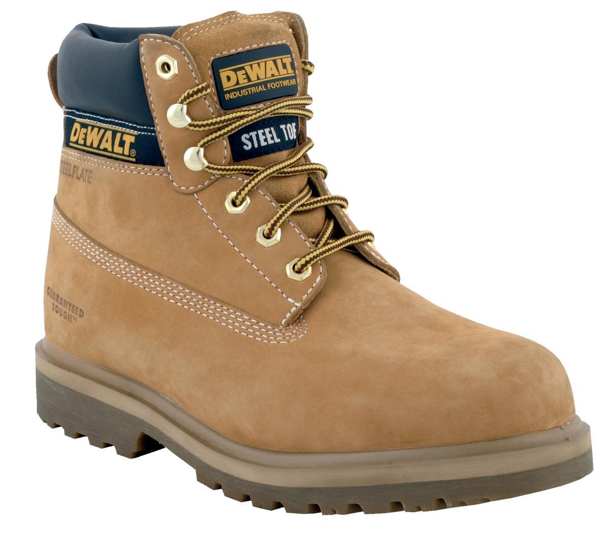 Dewalt Safety Boots 6 inch Nubuck Steel-midsole Chemical-resistant Size 7 Wheat Ref Explorer 7