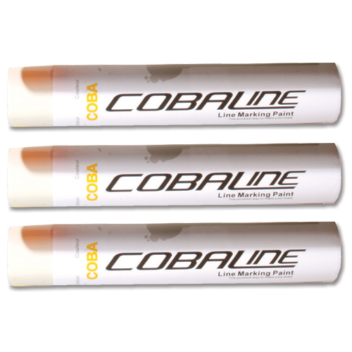 Cobaline Marking Spray CFC-free Fast-dry 750ml White Ref QLL00013P [Pack 6]