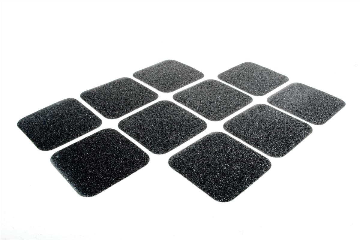 Image for COBA Grip Foot Tape Tile Anti-slip Grit Surface Hard-wearing W140xD140mm Black Ref GF010005 [Pack 10]