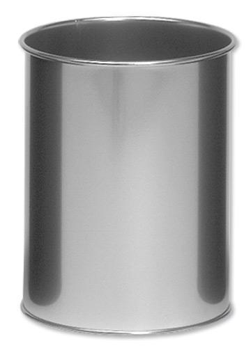 Durable Bin Round Metal Capacity 15 Litres Silver Ref 3301/23