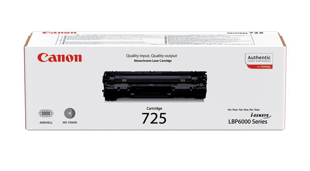 Canon CRG-725 Laser Toner Cartridge Page Life 1600pp Black Ref 3484B002