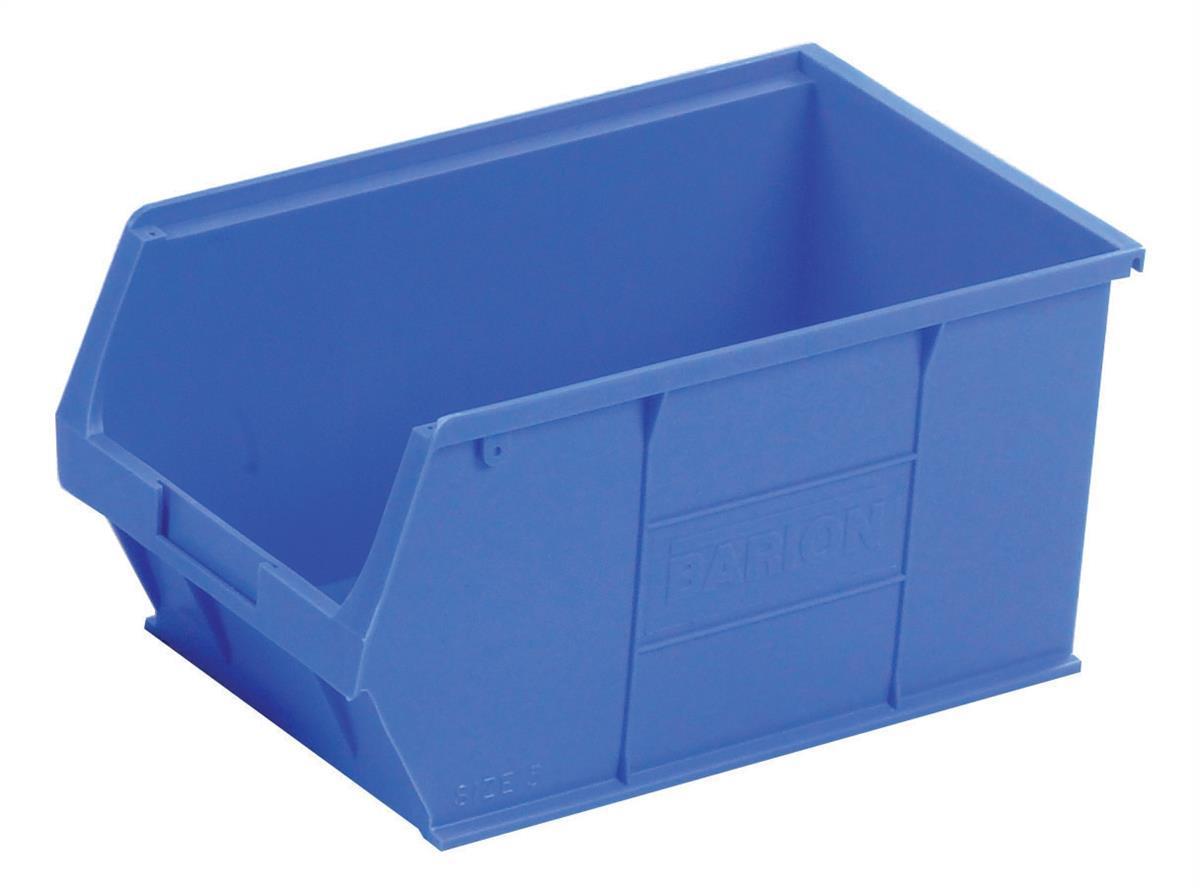 Container Bin Heavy Duty Polypropylene W350xD205xH182mm Blue [Pack 10]