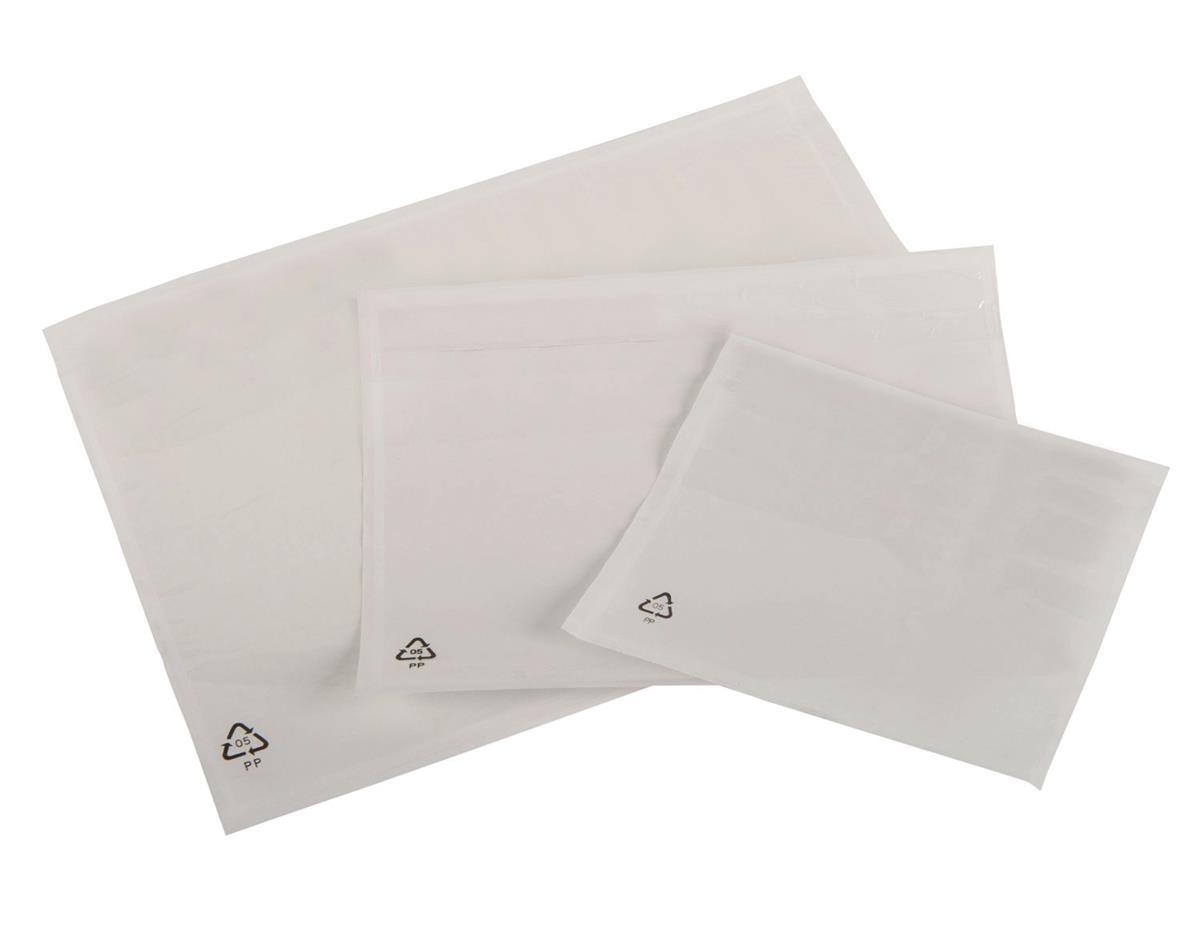 Packing List Envelopes Polythene A5 Plain 225x165mm [Pack 1000]
