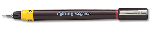 Rotring Isograph for Pen Precise Line Width to ISO 128 and ISO 3098/1 0.25mm Nib Ref S0202130