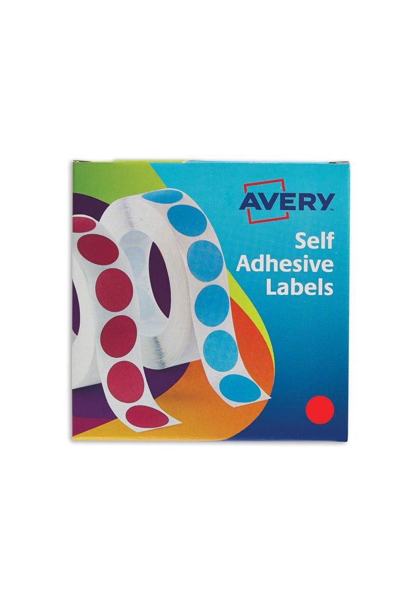 Avery Label Dispenser for Diam.19mm Red Ref 24-506 [1120 Labels]