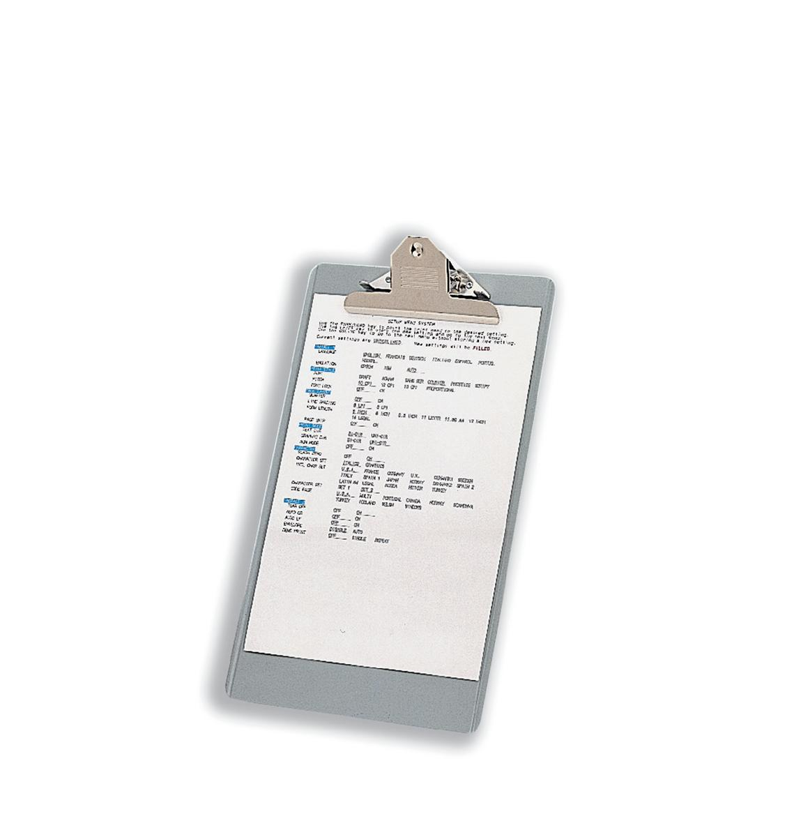 Clipboard Steel Enamelled Foolscap Grey