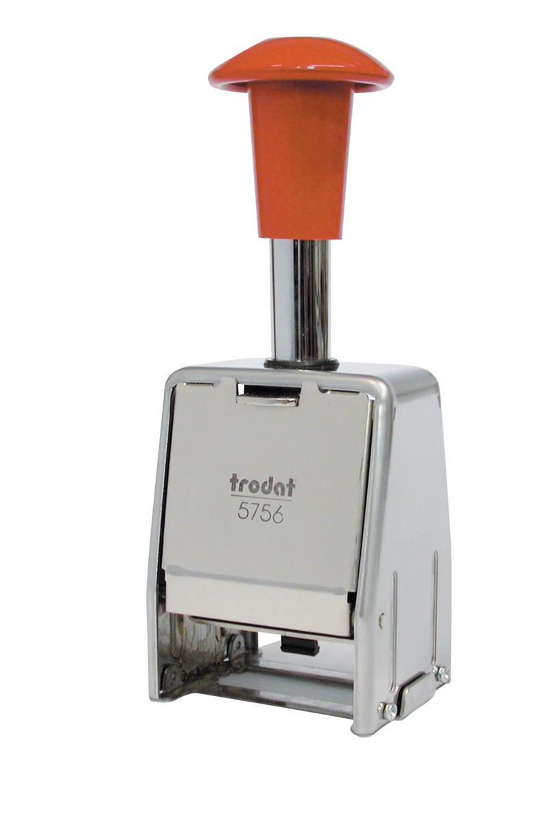 Trodat 5756/M Numberer Stamp Metal Sequential Self-inking 8 Adjustments 5.5mm Digits Ref 86624