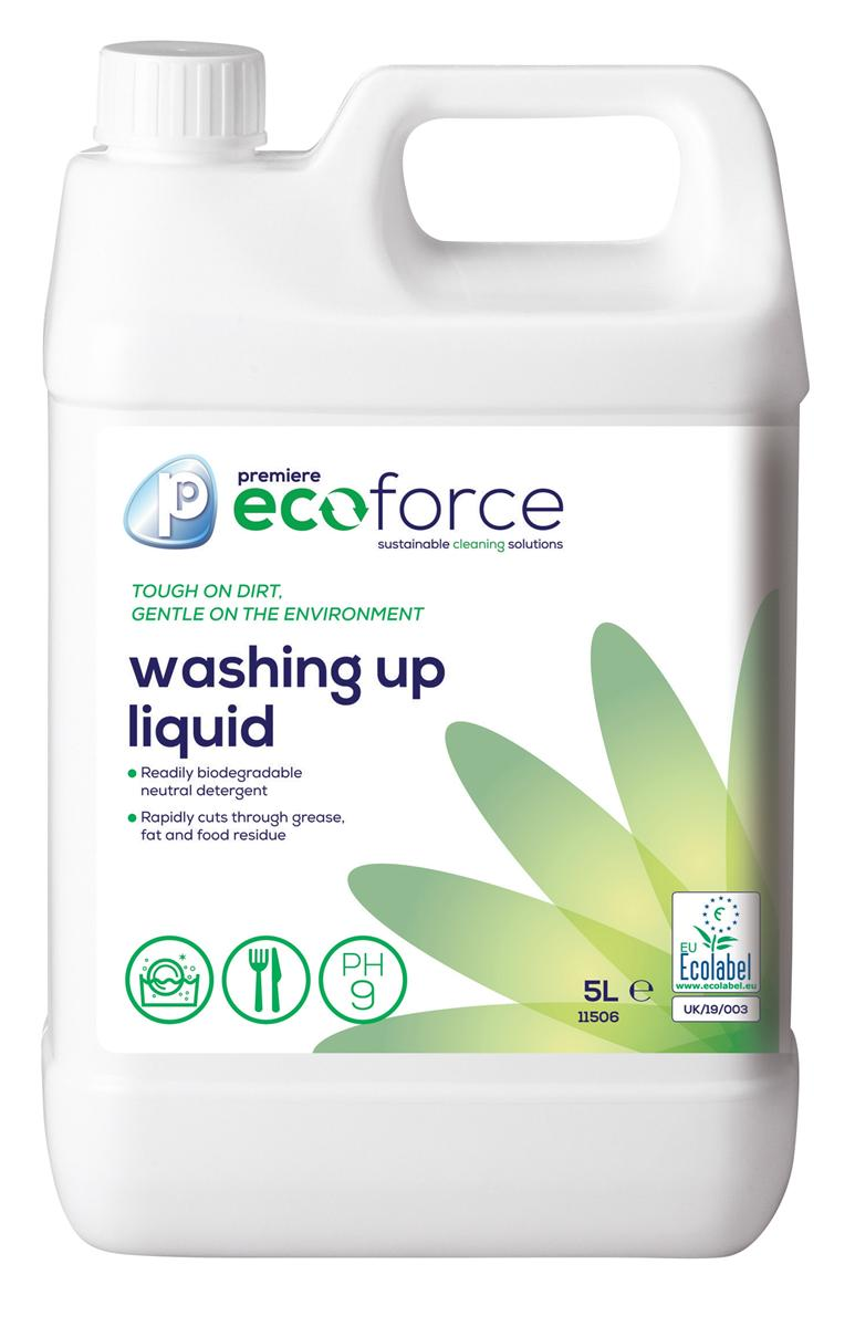 Ecoforce Washing Up Liquid 5 Litre Ref 11506 [Pack 2]