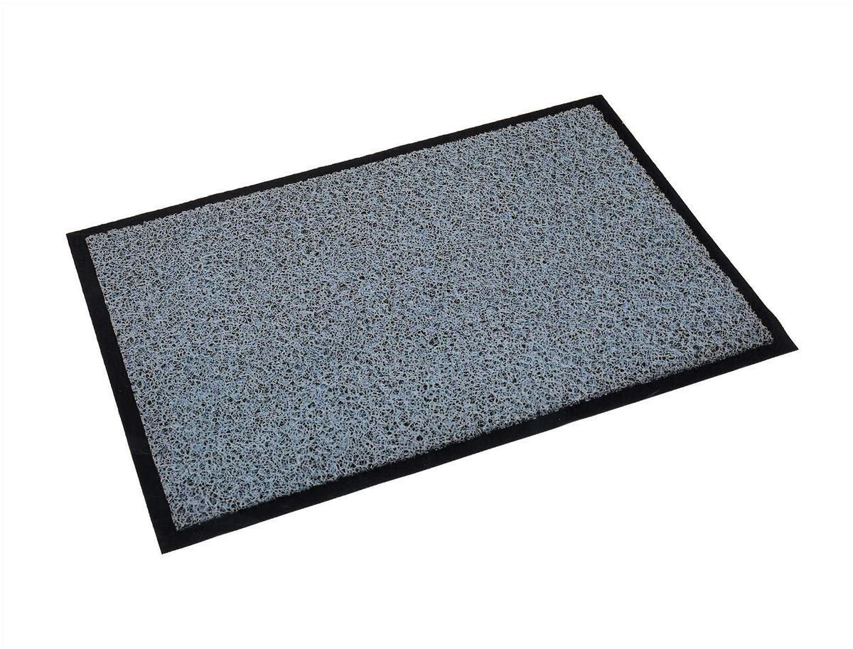 Floortex Outdoor Mat Vinyl Fibre Surface Vinyl Back 900x1500mm Grey