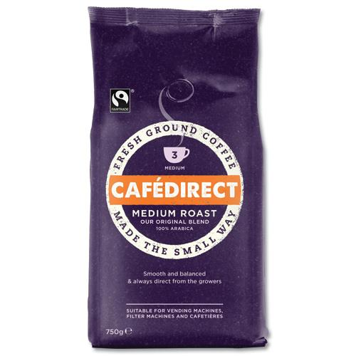 Cafe Direct Filter Coffee Fairtrade Medium Roast Smooth 227g Ref A06728