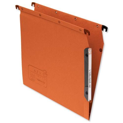 Elba Ultimate AZV Lateral Suspension File 330mm V-base A4 Orange Ref 100330473 [Pack 25]
