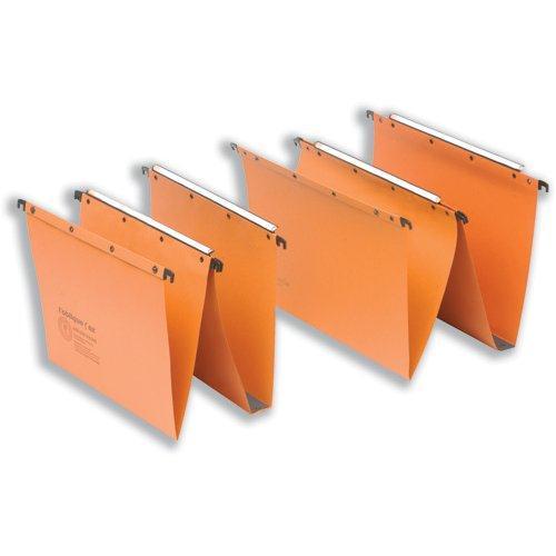 Elba AZV Ultimate A20 Suspension File Manilla V-Base Foolscap Orange Ref 100330312 [Pack 25]