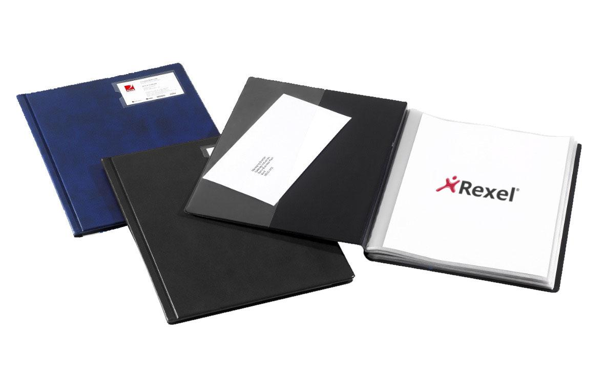 Image for Rexel Nyrex Slimview Display Book 50 Pockets A4 Black Ref 10048BK