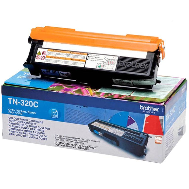 Brother Laser Toner Cartridge Page Life 1500pp Cyan Ref TN320C