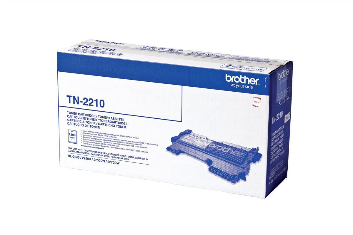 Brother Laser Toner Cartridge Page Life 1200pp Black Ref TN2210