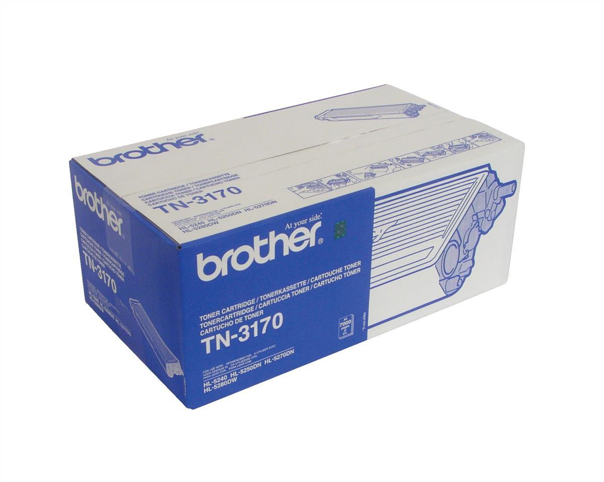 Brother Laser Toner Cartridge Page Life 7000pp Black Ref TN3170