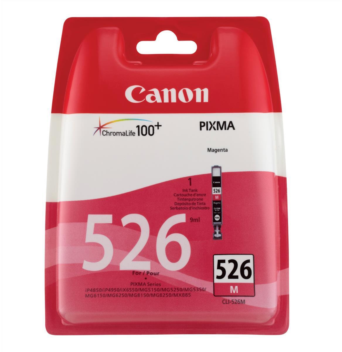 Canon CLI-526M Inkjet Cartridge Page Life 437pp Magenta Ref 4542B001