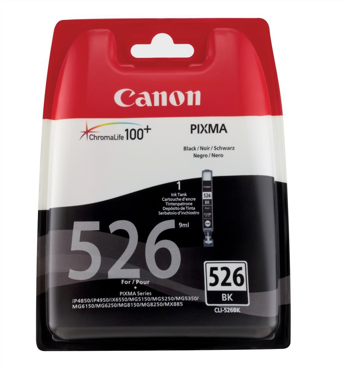 Canon CLI-526BK Inkjet Cartridge Page Life 2185pp Black Ref 4540B001