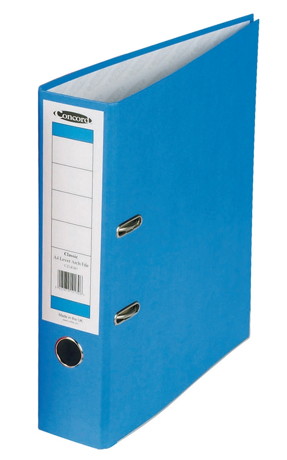 Concord Classic Lever Arch File Printed Lining Capacity 70mm A4 Blue Ref C214040 [Pack 10]