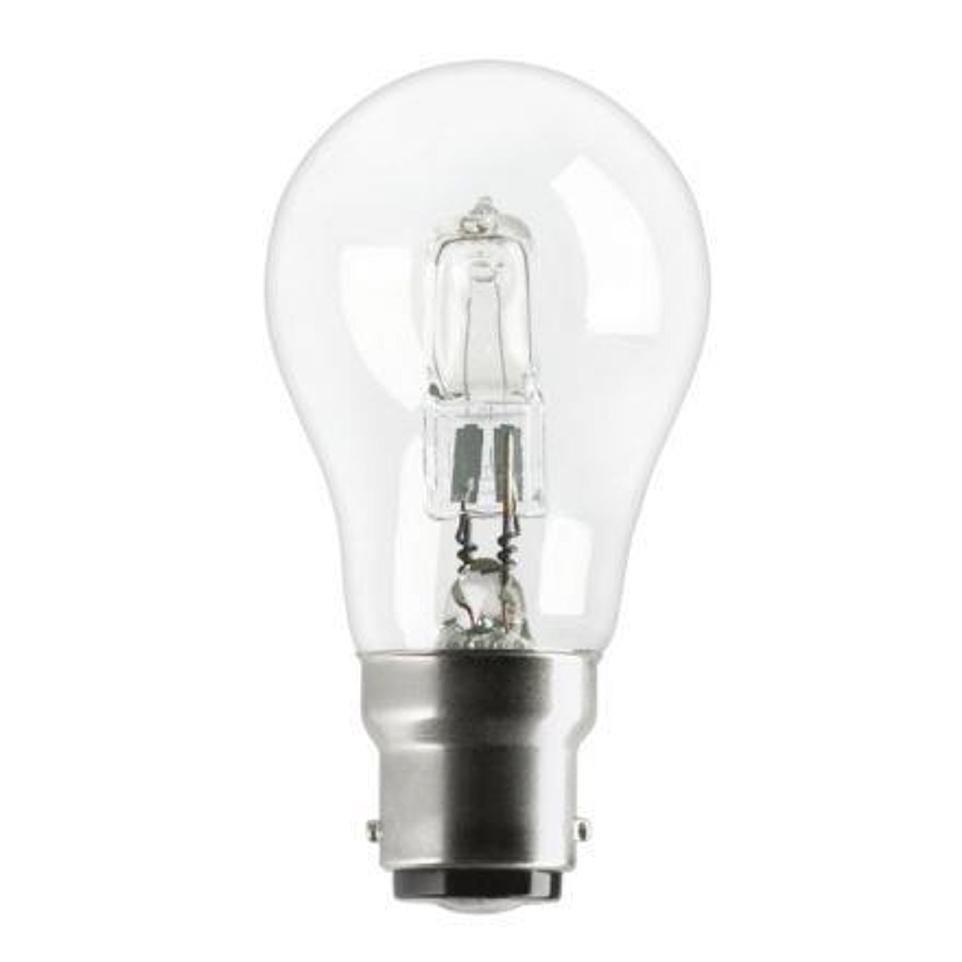 GE Light Bulb Energy Saving GLS Halogen Bayonet Fitting 77W Clear Ref 62576