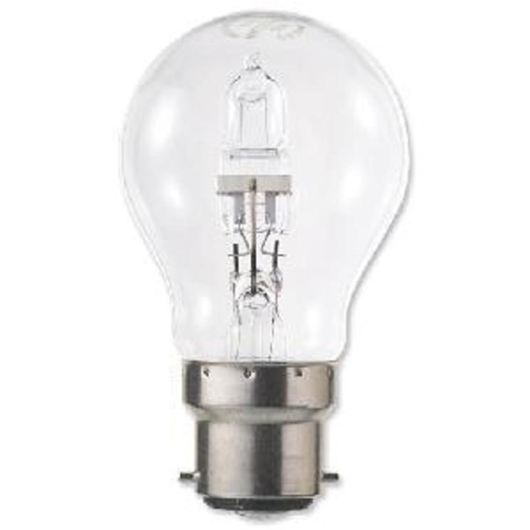 GE Light Bulb Energy Saving GLS Halogen Bayonet Fitting 42W Clear Ref 62575