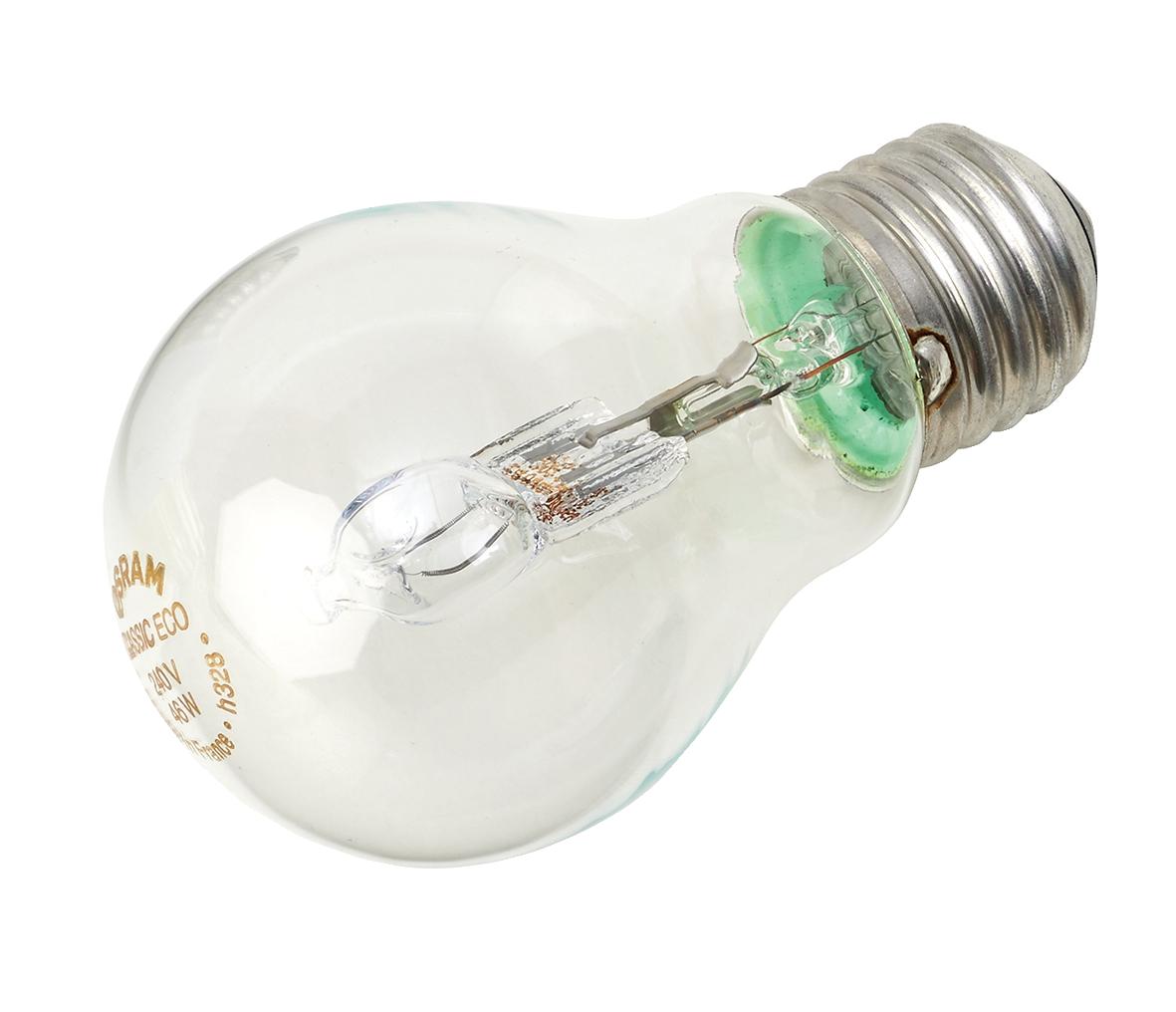 GE Light Bulb Energy Saving GLS Halogen Screw Fitting 42W Clear Ref 79422