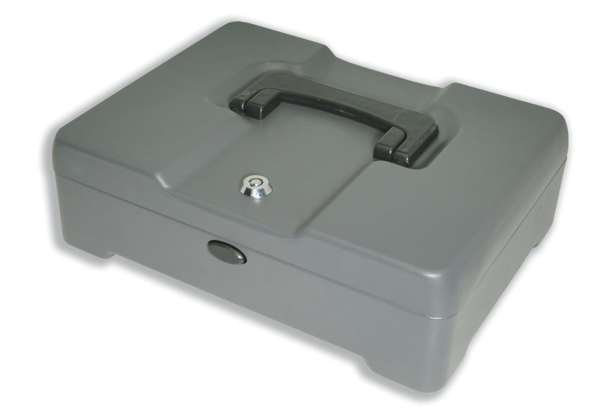 Cash Manager Security Box 8 Compartments and Coin Counter Tray Mercury