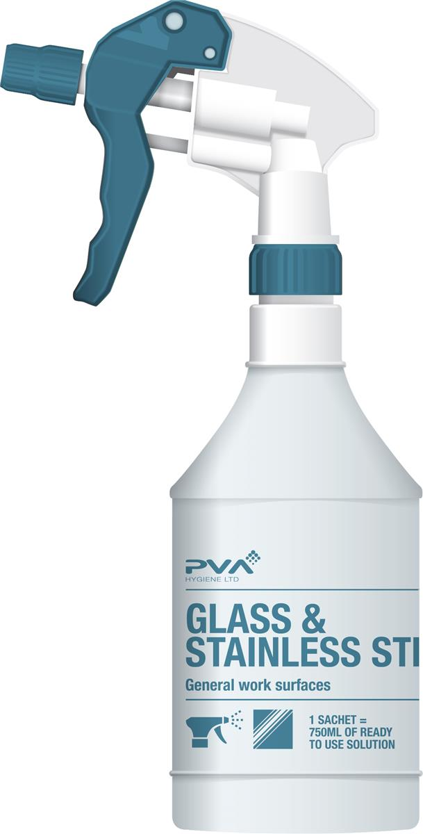 PVA Empty Trigger Spray Bottle for Glass & Stainless Steel Cleaner Ref 40795401