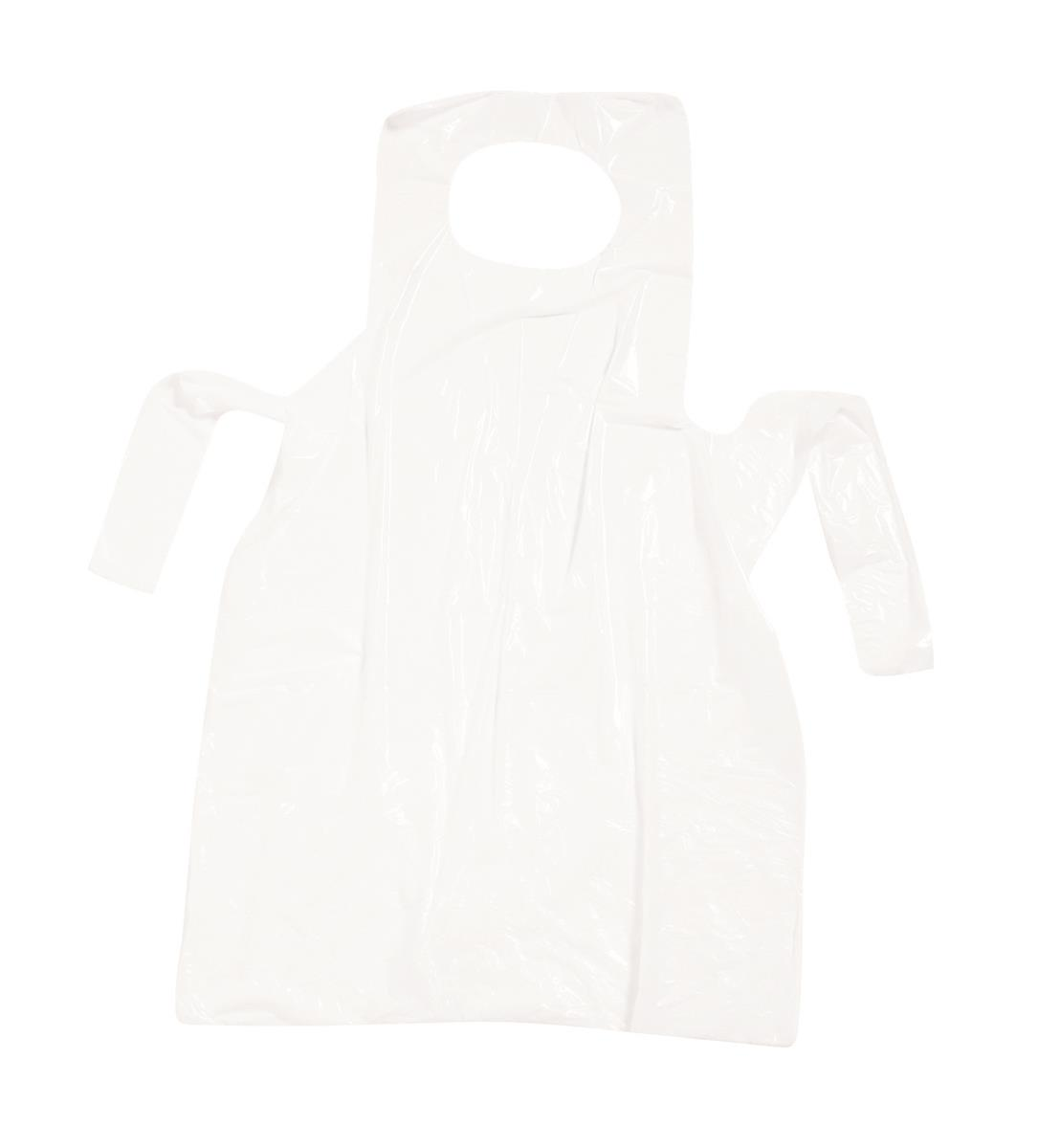 Aprons On Roll Polythene 17 Micron 27x46in Clear [Roll of 200]