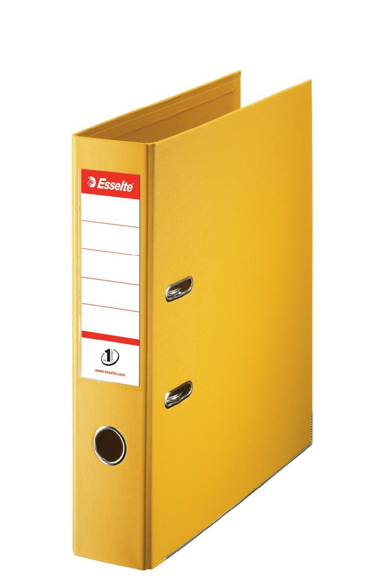 Esselte No. 1 Lever Arch File 75mm A4 Yellow Ref 880027