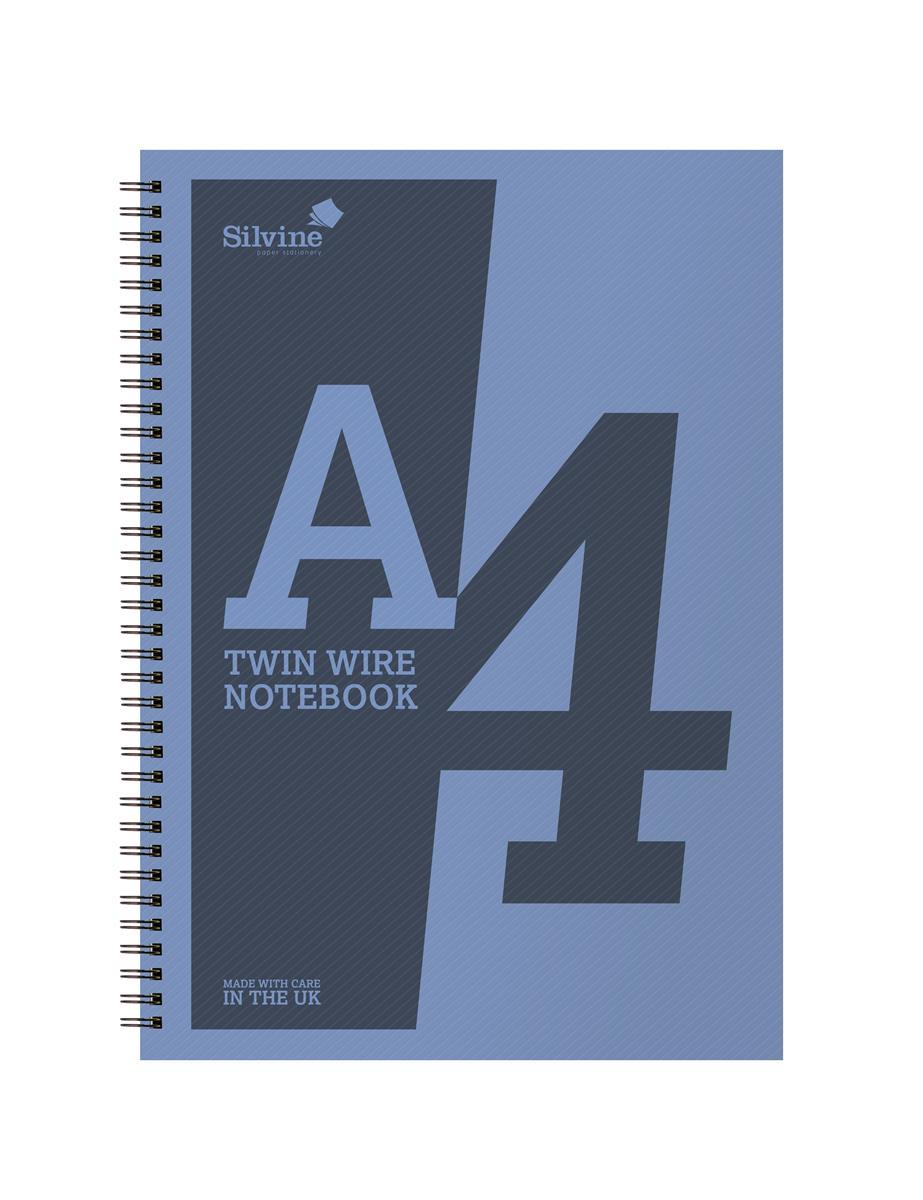 Silvine Notebook Wirebound Polypropylene 60gsm 160pp A4 Assorted Ref ...