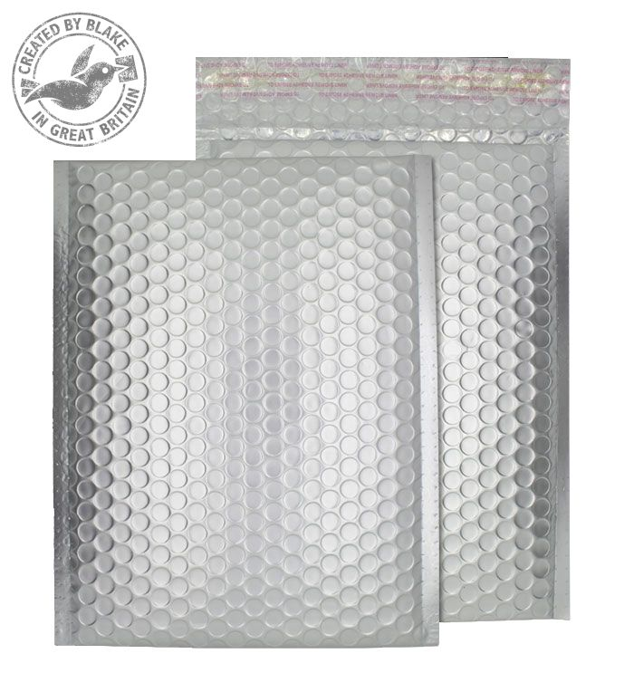 Purely Packaging Bubble Envelope P&S C4 Matt Metallic Chrome Ref MTA324 [Pk 100] *3 to 5 Day Leadtime*