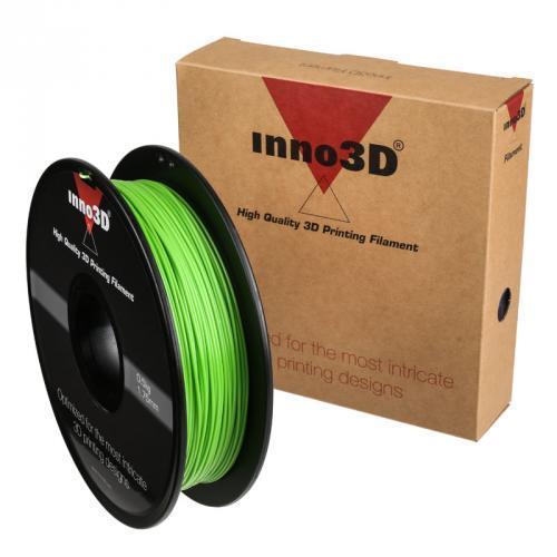 Inno3D PLA Filament for 3D Printer 1.75x200mm 0.5kg Green Ref 3DPFP175GN05