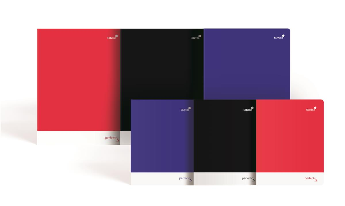 Silvine Notebook Soft Velvet Cover Perforated 75gsm 160pp A4 Assorted Ref PERA4RBBST[Pack 6]
