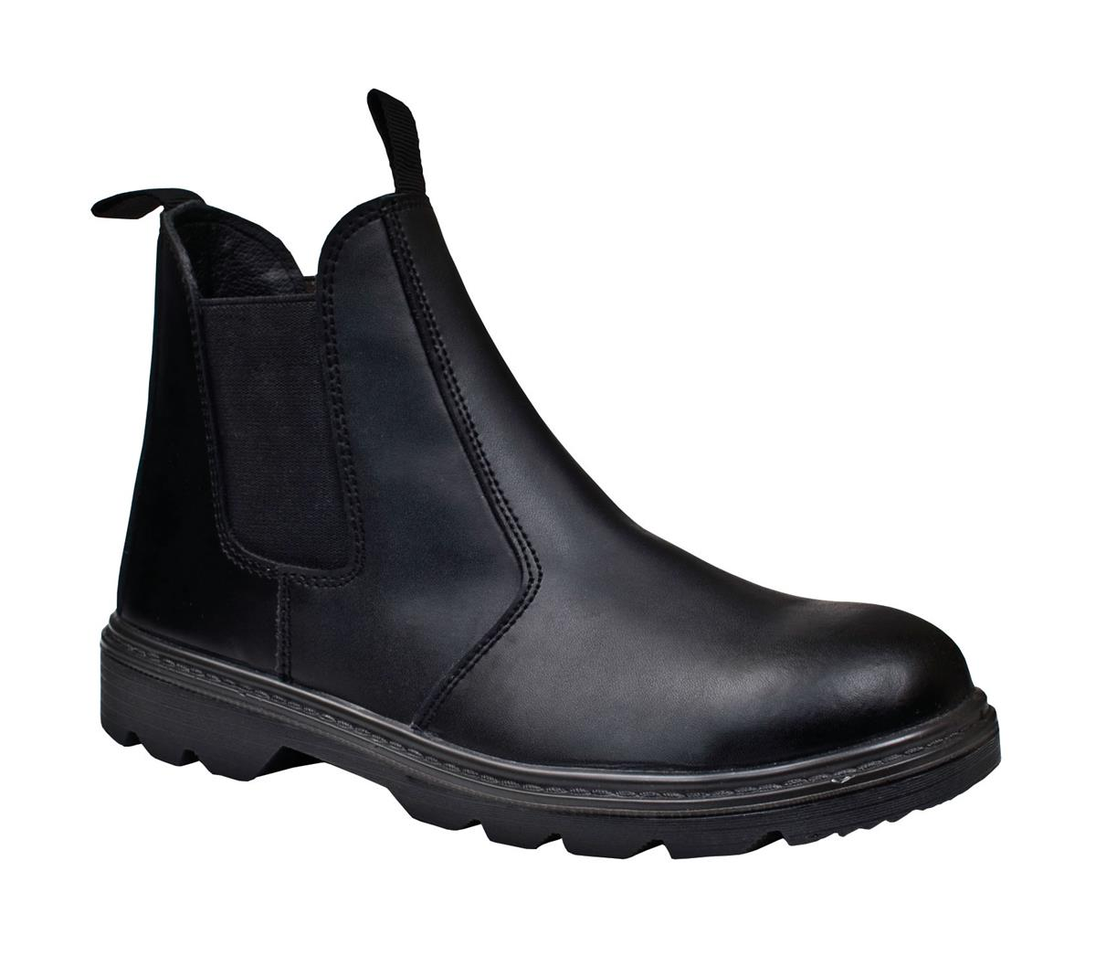 ST Dealer Boot Leather Pull-On Design with Safety Toecap Size 10 Black Ref 93275 *Approx 3 Day Leadtime*