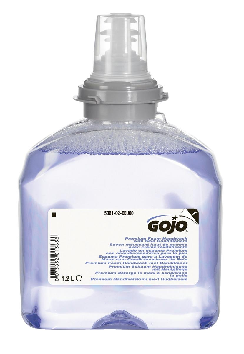 Gojo Foam Soap Hand Wash Refill with Conditioner for TFX Dispenser 1200ml Ref N06250 [Pack 2]