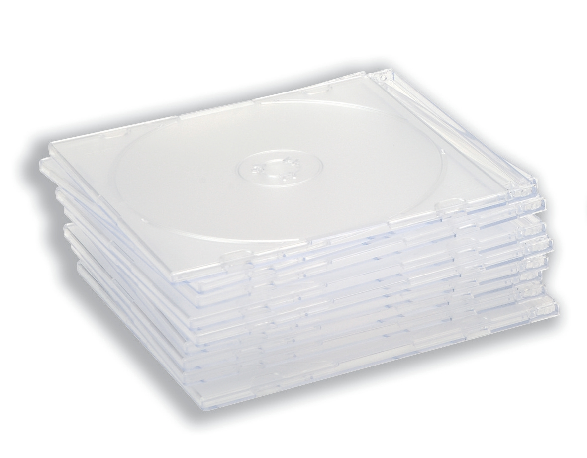 CD Case Slimline Jewel for 1 Disk W125xD5xH124mm Clear [Pack 100]