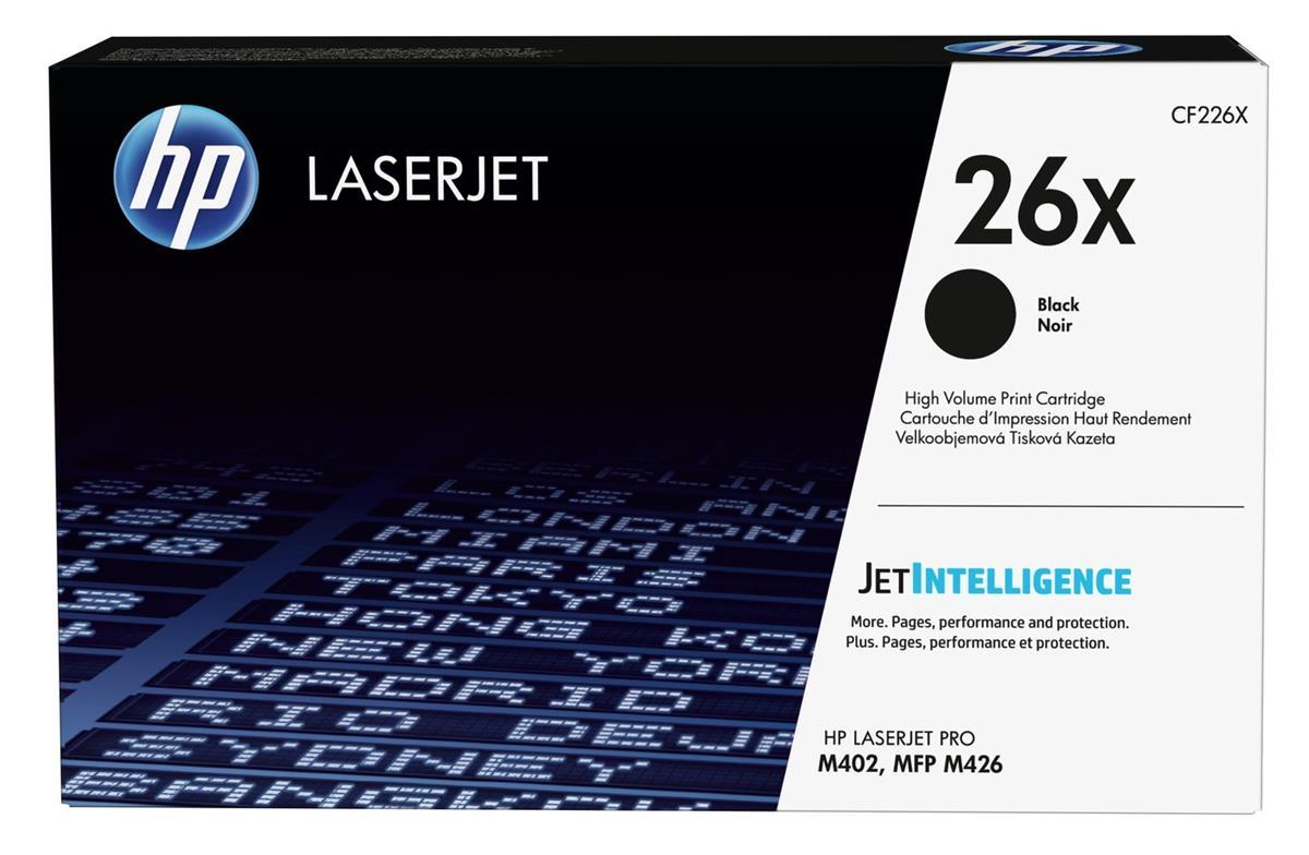 Hewlett Packard [HP] No.26X Laser Toner Cartridge High Yield Page Life 9000pp Black Ref CF226X