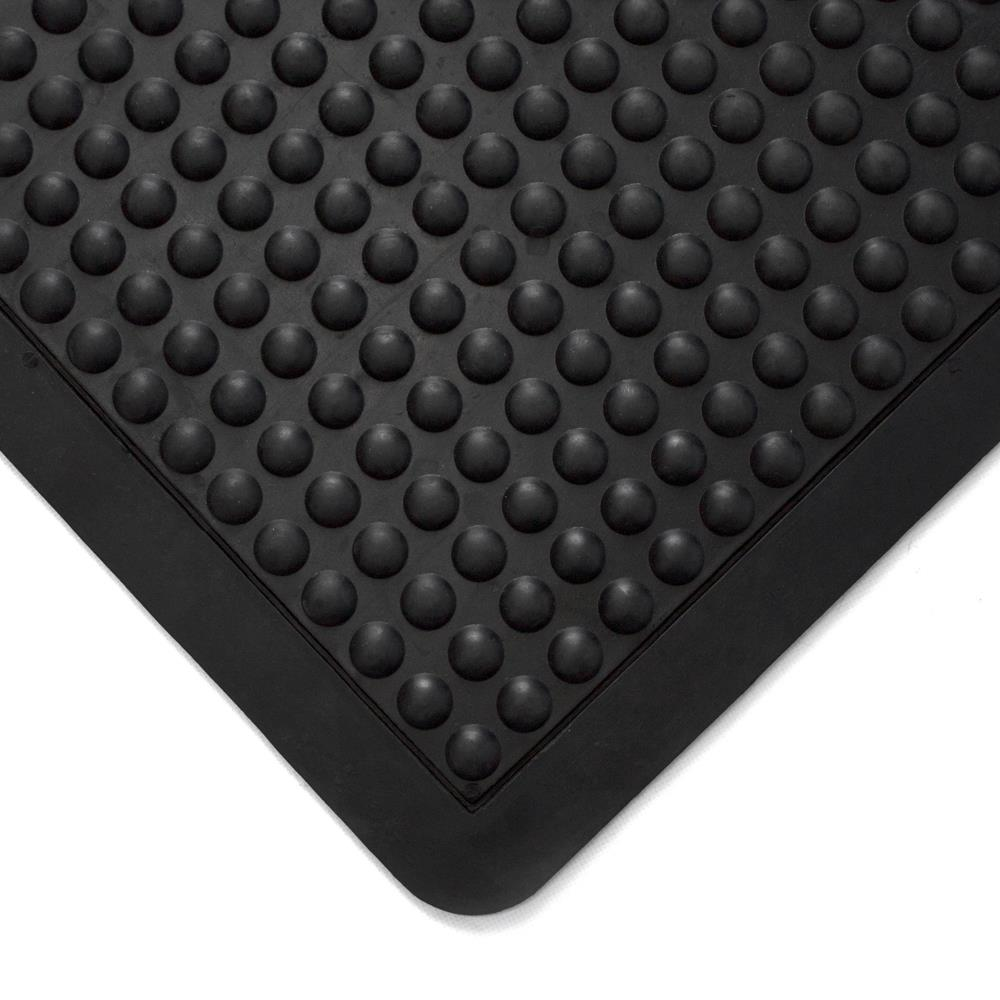 Image for Coba Mat Rubber Anti Fatigue Textured Anti Slip Bevelled Edge Bubble Pattern 900x1200mm Ref BF010702