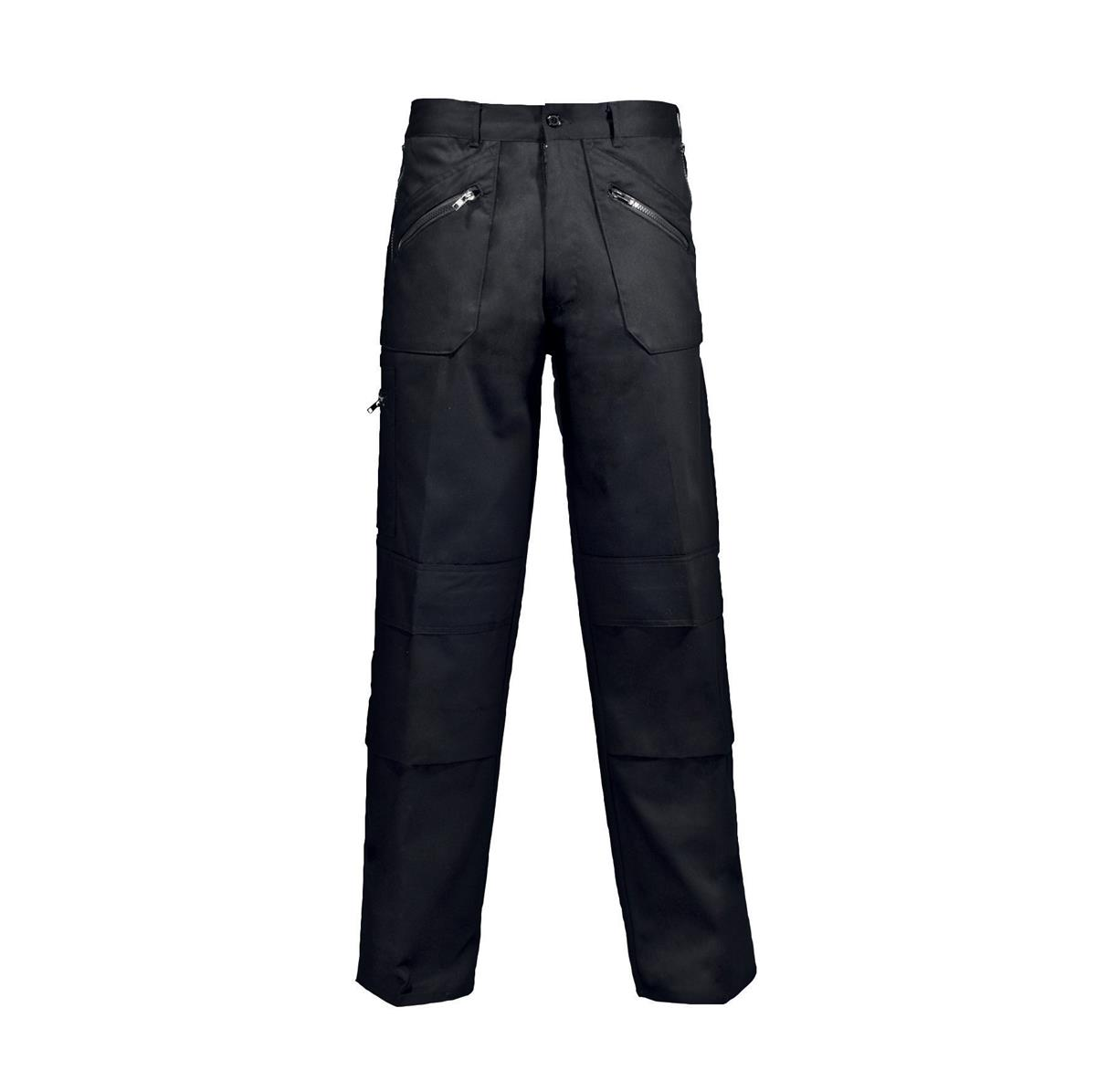 ST Action Trousers Poly Cotton Zipped Pockets Regular 40inch Blk Ref 18FA7 *Approx 3 Day Leadtime*